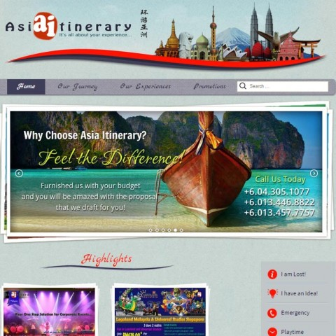 Asia Itinerary