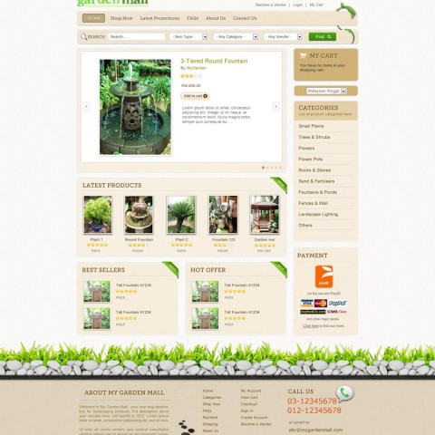 My Garden Mall (web design)
