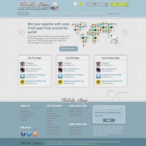 Delish Apps (web design)